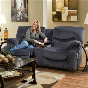 Franklin Challenger Reclining Console Loveseat