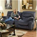 Franklin Challenger Reclining Console Loveseat with Cup Holders - 48634 8329-43