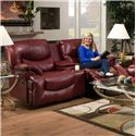 Franklin Challenger Reclining Console Loveseat with Cup Holders - 48634 LM63-73