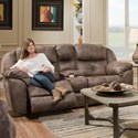 Franklin Conway Power Recline Console Loveseat - Item Number: 74935-8708-14