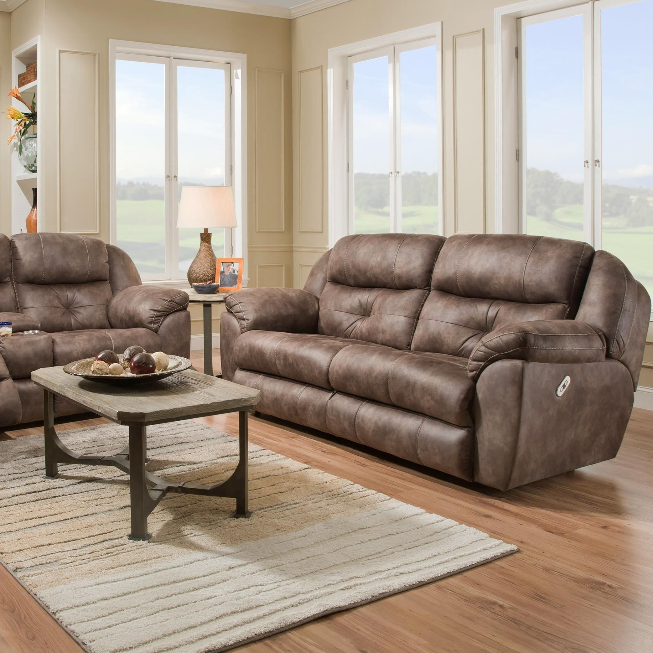 Franklin Conway Power Recline Two Seat Sofa With Power Adj
