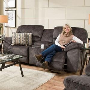 Franklin Delta Reclining Console Sofa
