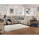 Franklin Donnelly Reclining Sectional - Item Number: 37165+2