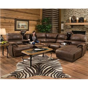 Reclining Sectional Sofa with Left Chasie