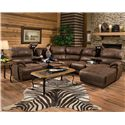 Franklin Empire Reclining Sectional Sofa with Left Chasie - Item Number: 48231+99+17+85 8323-14