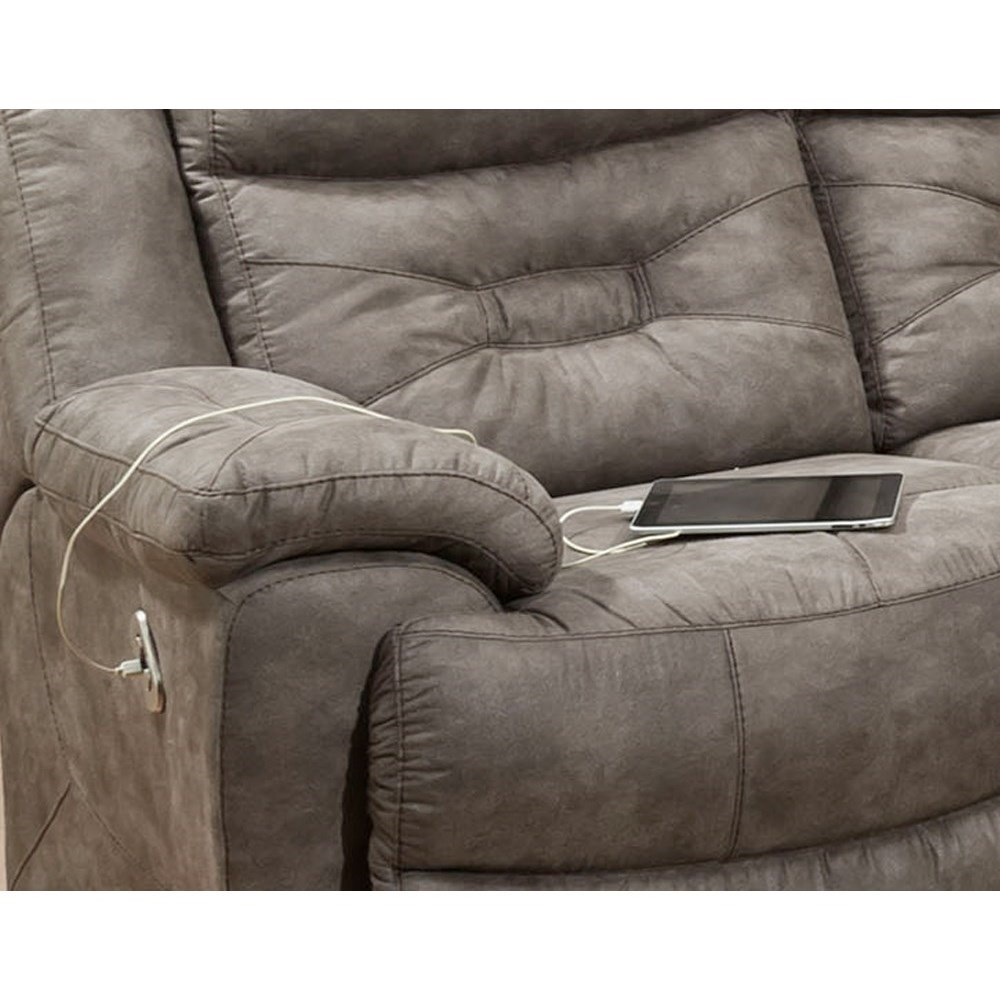 Casual Power Reclining Sofa With Power Headrests Power