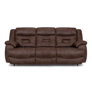 Brown Pwr Recl Sofa w/Pwr Head & Lumbar