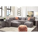Franklin Freestyle Sectional Sofa with Four Seats - Item Number: 89501x3+89503x2+89518x2