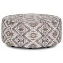 Franklin Gemma Round Ottoman - Item Number: 77618-3985-26