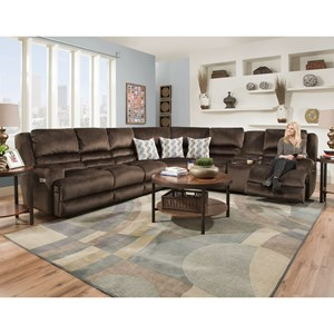 Franklin Grand Slam Six Seat Power Reclining Sectional
