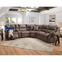 Franklin Hawkins Power Reclining Sectional - Item Number: 75901+77+07+99+03+02-3804-05