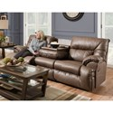 Franklin Henson Power Reclining Sofa with Drop Down Table - Item Number: 36444-83 8706-13