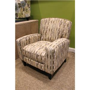 Franklin High and Low Leg Recliners  Lucy Canvas Push Back Recliner
