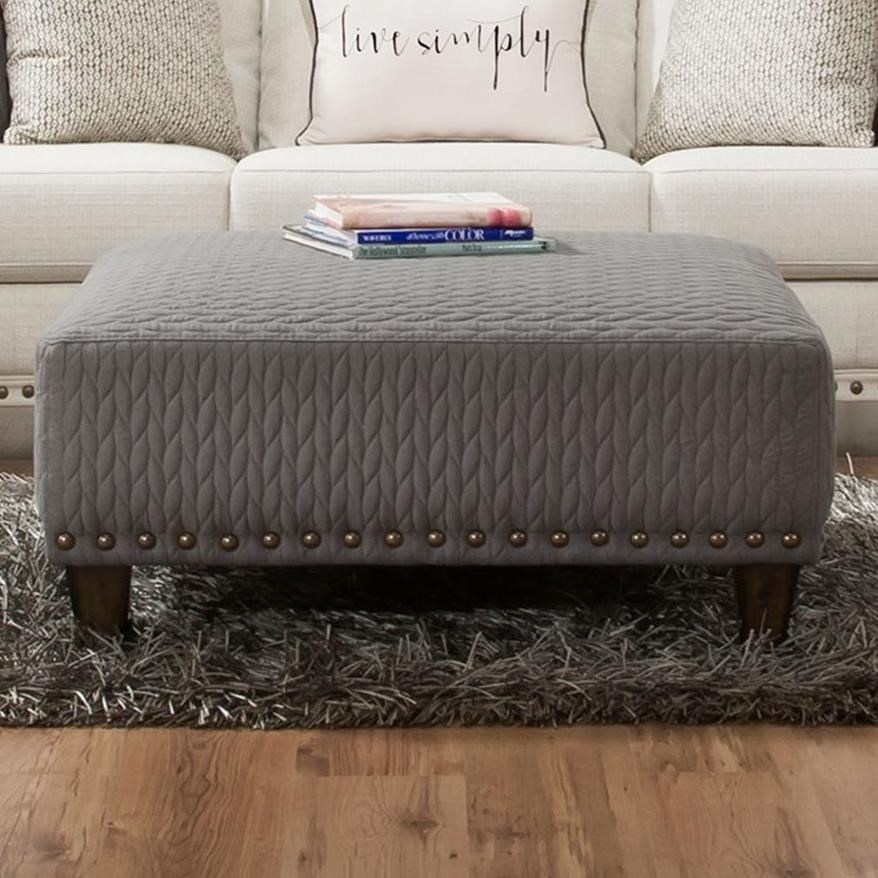 Franklin Monty Cocktail Ottoman With Nails Miskelly