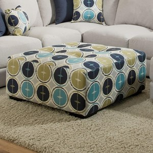 Franklin Jules Square Ottoman with Button Tufting