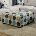 Franklin Jules Square Ottoman with Button Tufting - Item Number: 75018