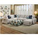 Franklin Jules Sectional Sofa - Item Number: 85959+04+03+60