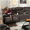Franklin Legend Reclining Console Loveseat with Cup-Holders - 41834 8316-05