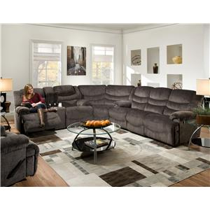 Legend Sectional Sofa with 6 Seats (4 Recline) by Franklin