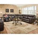 Franklin Lewis Reclining Sectional Sofa - Item Number: 75134+99+43-8707-12