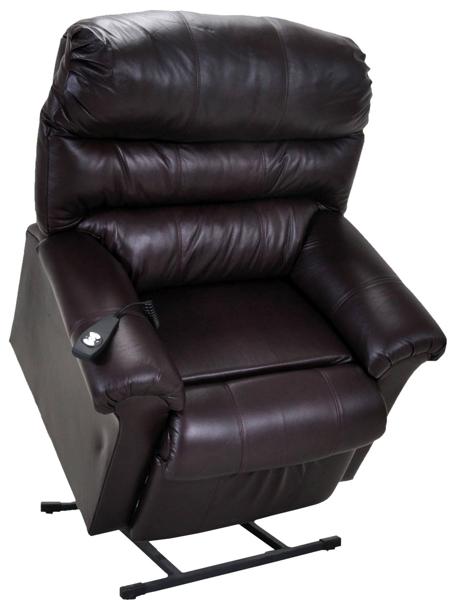 Franklin Lift and Power Recliners Chocolate Leather Lift Chair - Item Number 498 O  sc 1 st  Great American Home Store : leather power recliner chair - islam-shia.org