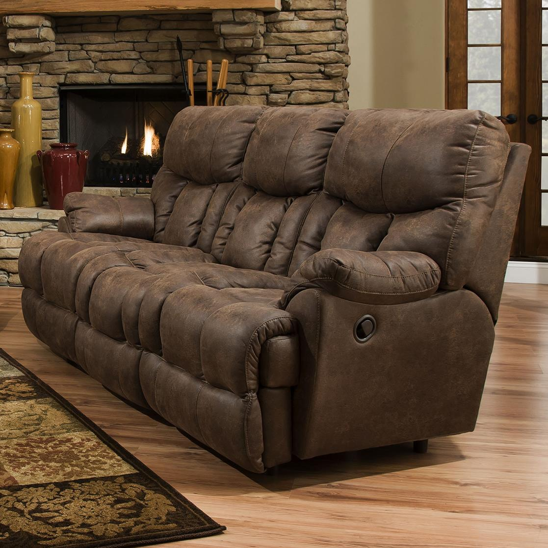 Franklin Mammoth Power Reclining Sofa With Extra Tall And