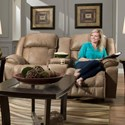 Franklin Marshall Reclining Console Loveseat - Item Number: 71734-8621-25