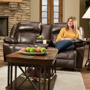 Franklin Marshall Power Reclining Console Loveseat