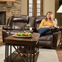 Franklin Marshall Power Reclining Console Loveseat - Item Number: 71734-83-LM83-15