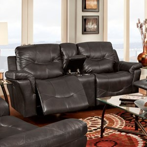 Franklin Milano Power Reclining Console Loveseat