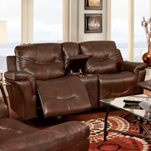 Franklin Milano Reclining Console Loveseat