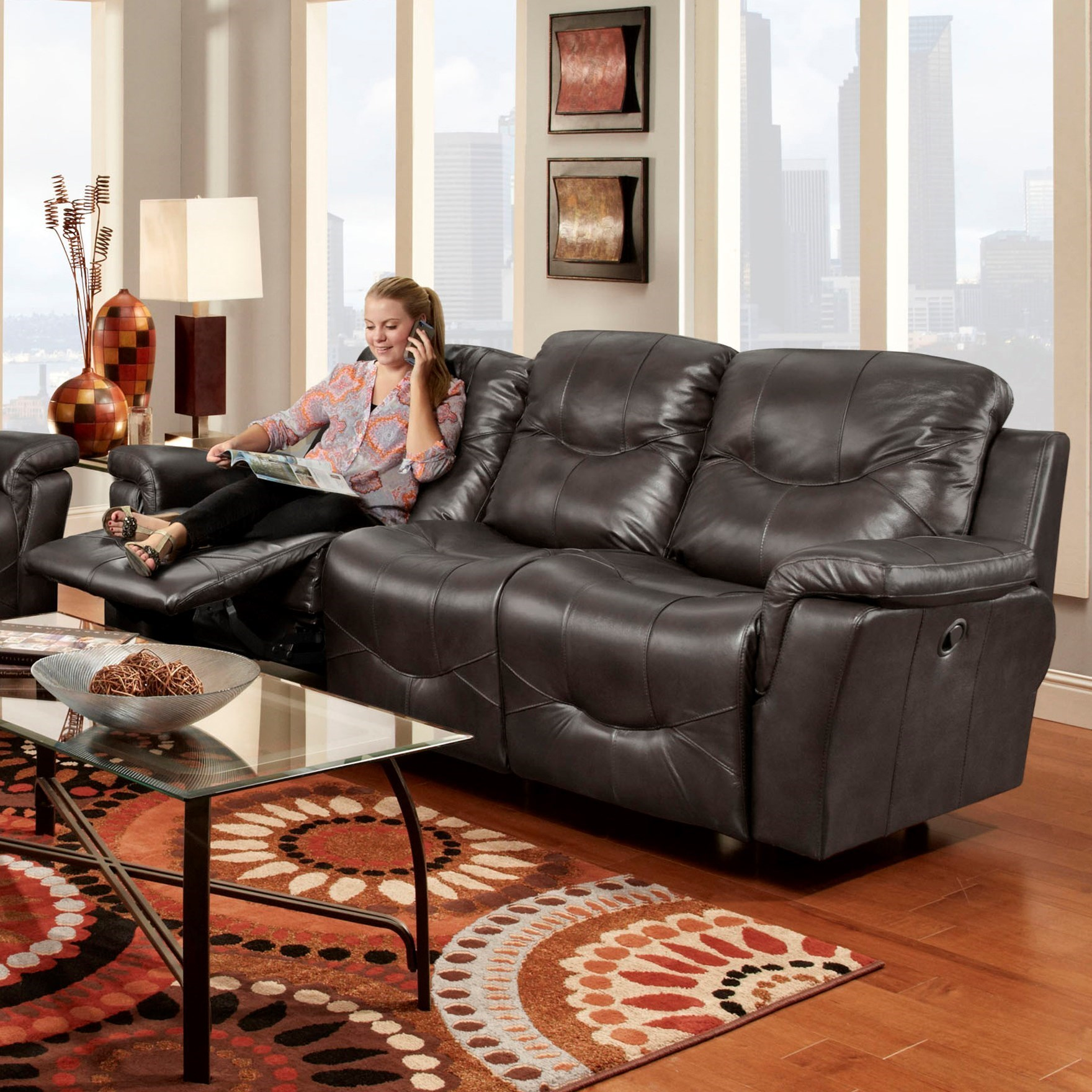 Franklin Milano 41342 Reclining Sofa John V Schultz Furniture Reclining Sofa