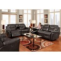 Franklin Milano 3 Piece Reclining Living Room Group - Item Number: Reclining Group 1-LM61-01
