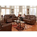 Franklin Milano 3 Piece Reclining Living Room Group - Item Number: Reclining Group 1-LM61-18