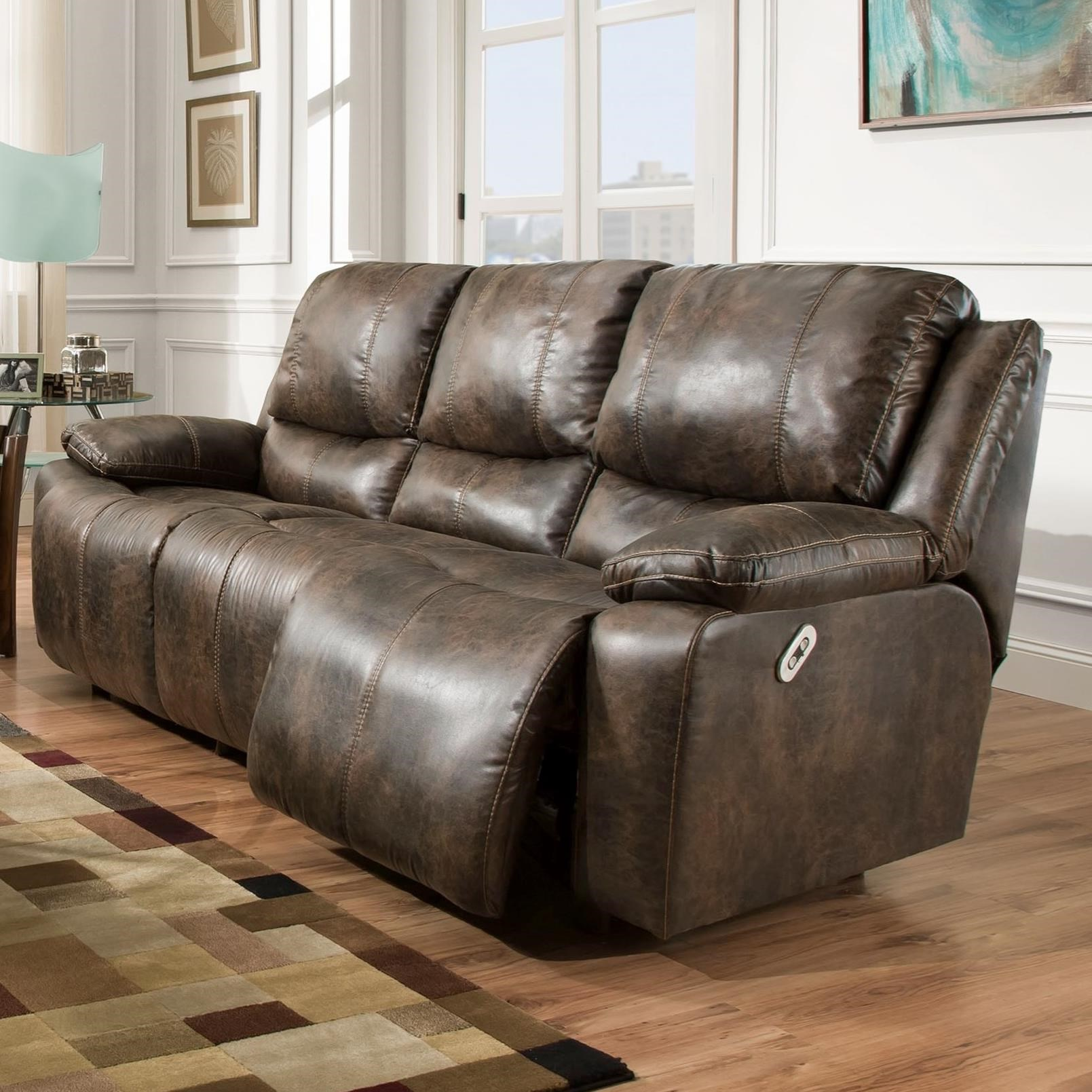Franklin Montana Power Reclining Sofa With Power Backrest Miskelly Furniture Reclining Sofas