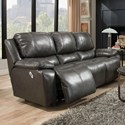 Franklin Montana Power Reclining Sofa with Power Backrest - Item Number: 74542-LM21-03