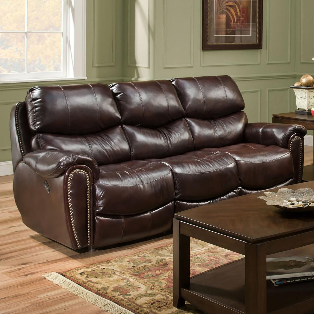 Franklin Richmond Reclining Sofa With Nail Head Trim
