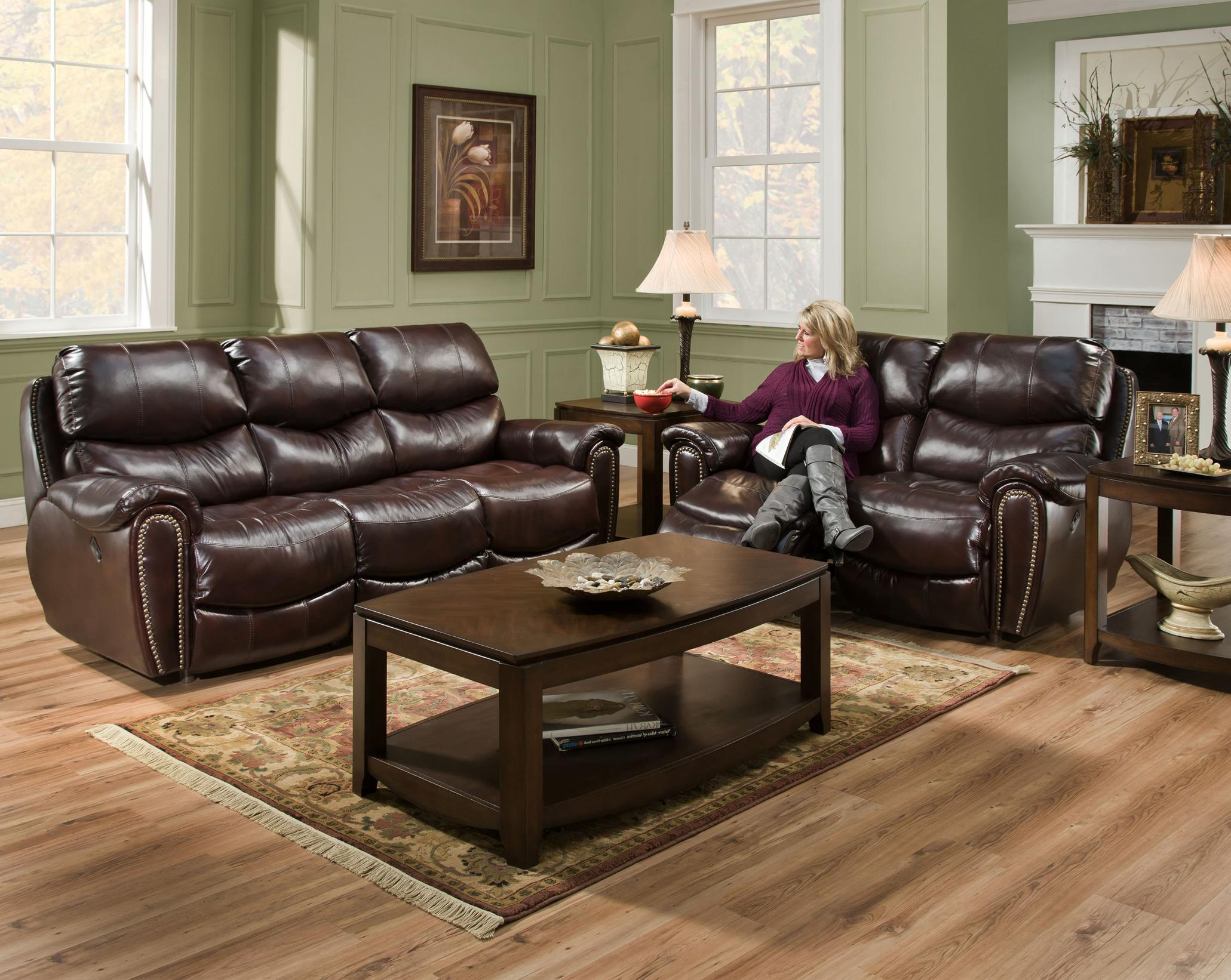 Franklin Richmond Reclining Sofa With Nail Head Trim Miskelly Furniture Reclining Sofa