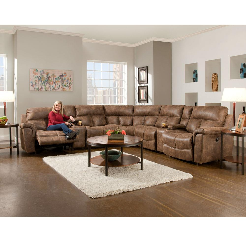 Franklin Stallion Six Piece Power Reclining Sectional - Item Number: GRP-466-6PC-SECTIONAL