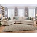 Franklin Jasmine Sectional Sofa - Item Number: 85559+04+03+60-3843-28