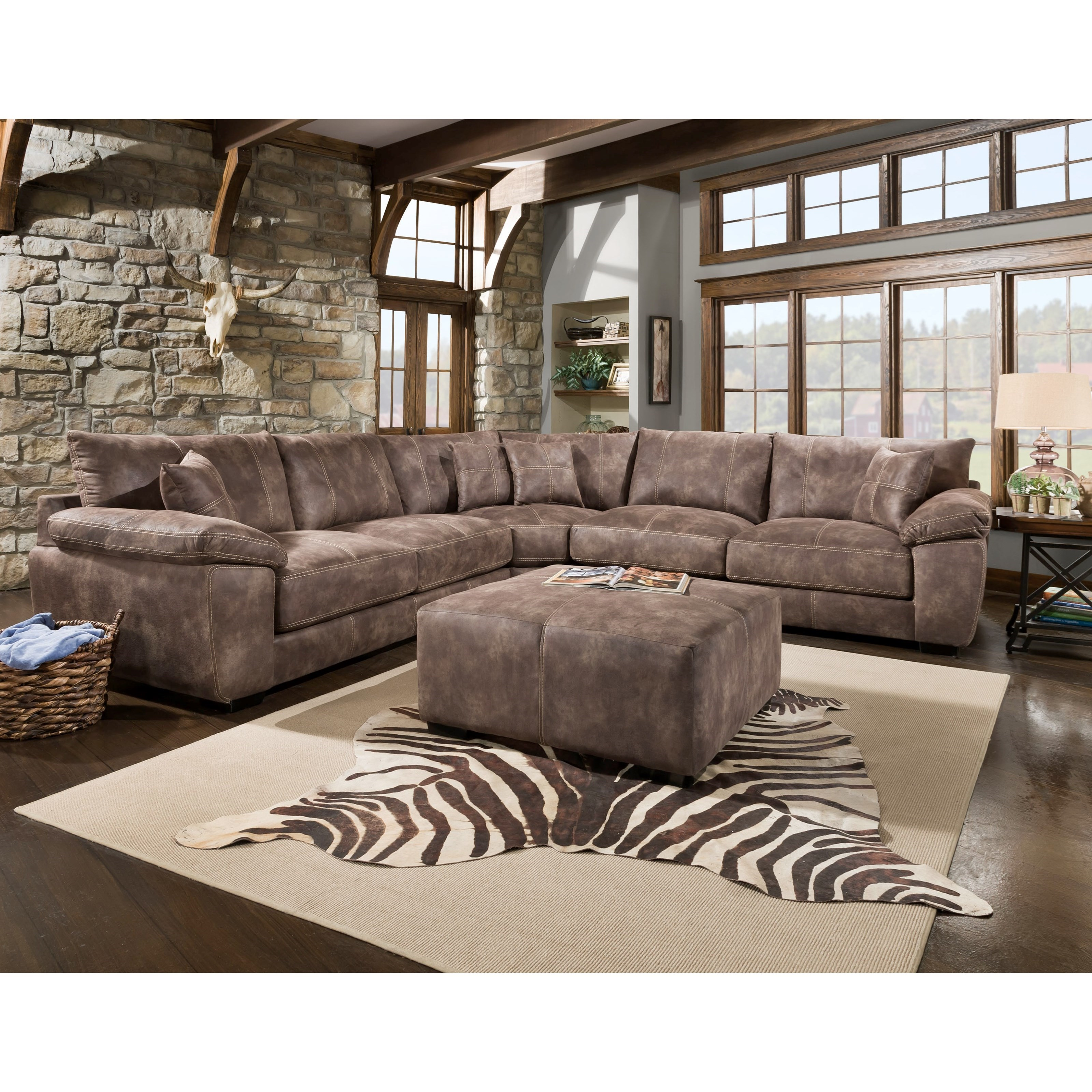 Leather Sofa Repairs Bromley: Franklin Teagan Casual Three Piece Sectional