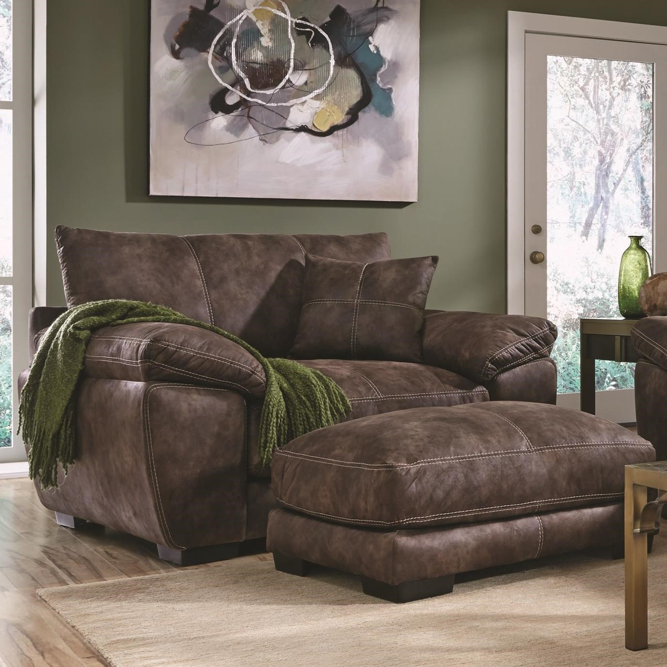 Franklin Teagan Upholstered Chair And A Half With Pillow Arms Howell Furniture Chair A Half