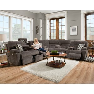 Franklin Tribute 6 Seat Power Reclining Sectional