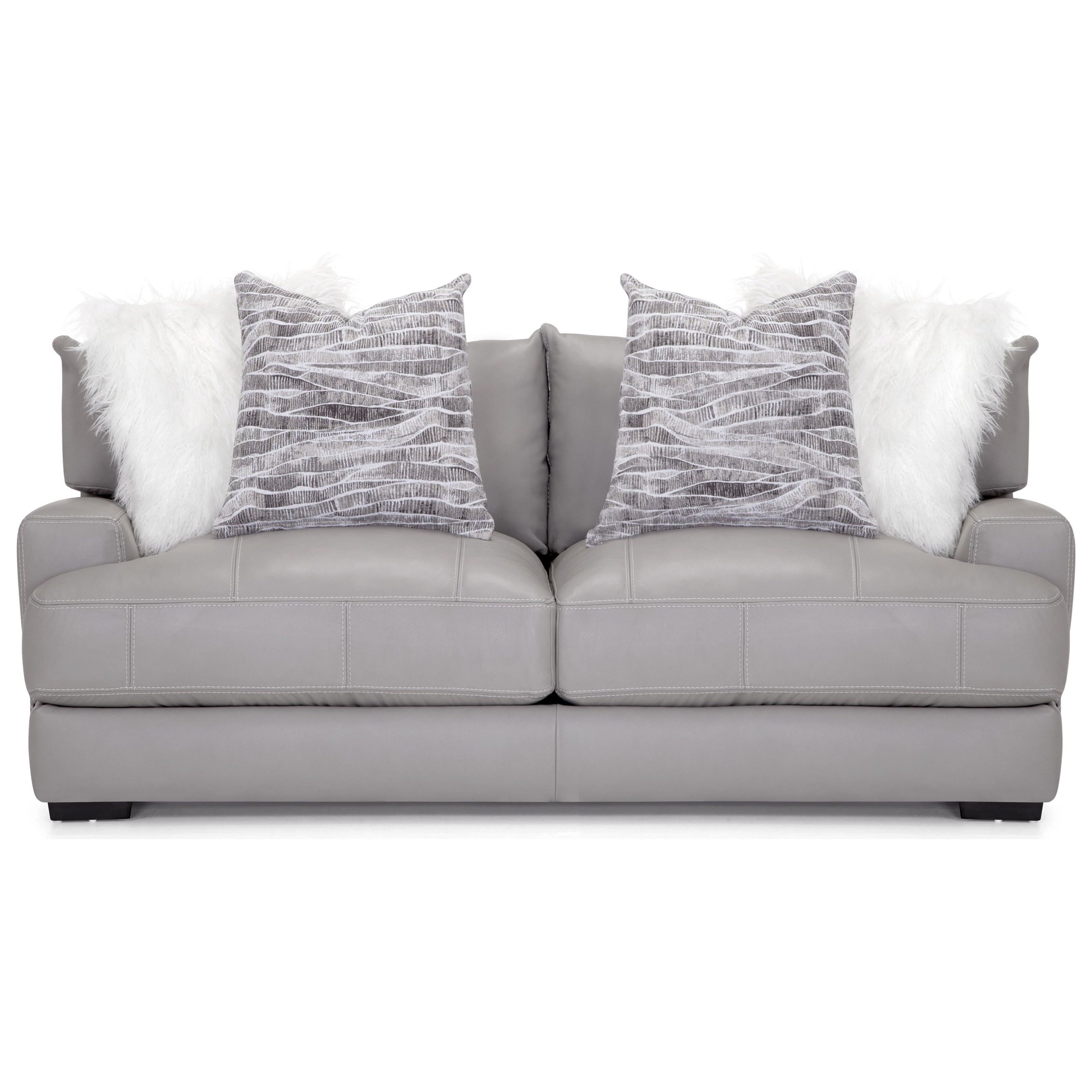 909 Leather Match Sofa by Franklin at Wilcox Furniture