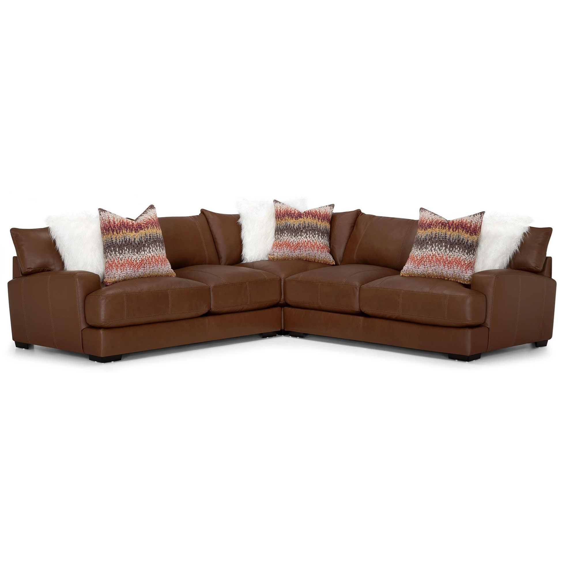 909 Leather Match 3pc Sectional by Franklin at Wilcox Furniture