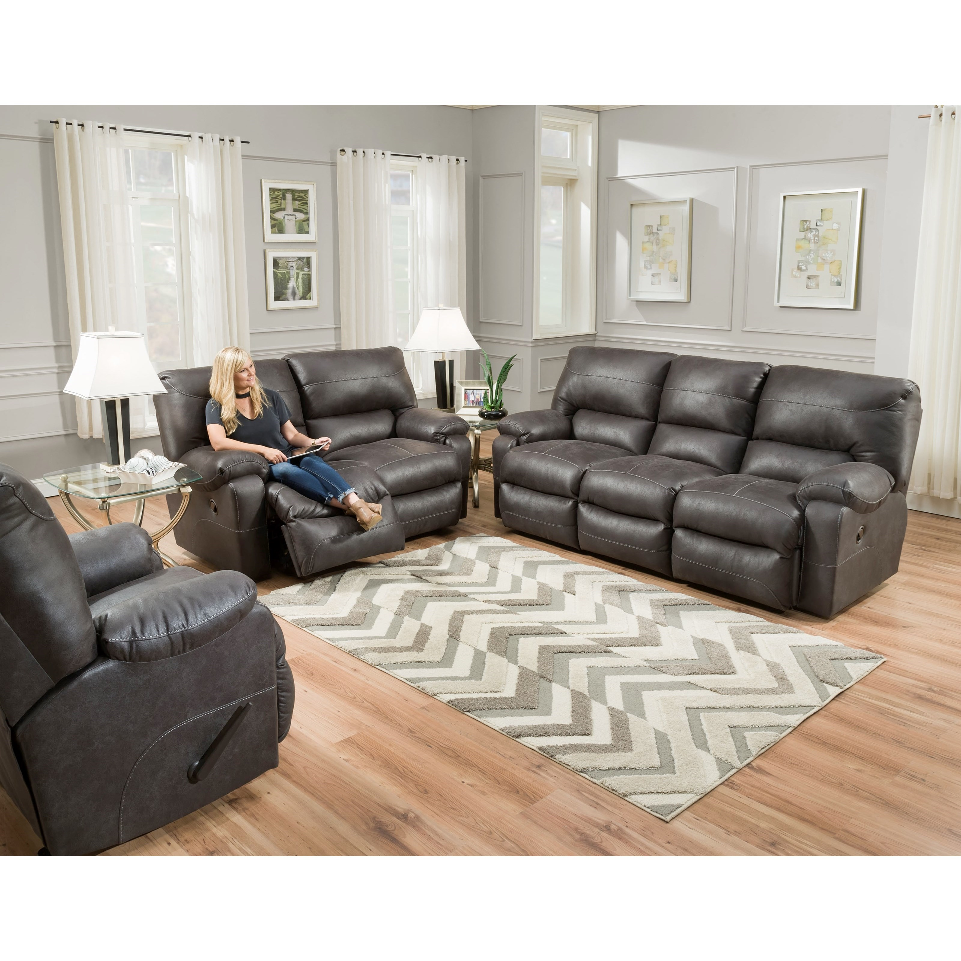Franklin Vip Power Reclining Sofa With Usb Ports Howell