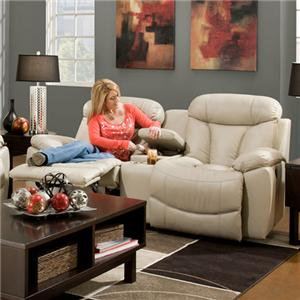 Franklin Wescott Reclining Console Loveseat