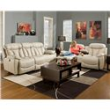 Franklin Wescott Reclining Console Loveseat with Cup Holders