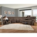 Franklin Westwood Reclining Sectional - Item Number: 34139+99+34-3767-15