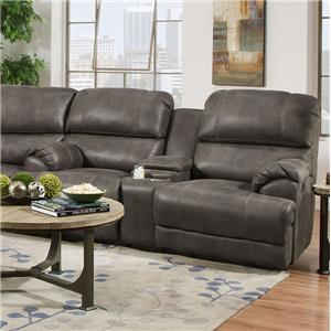 Franklin York Reclining Console Loveseat